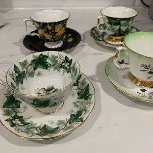 Authentic Royal Albert teacups and saucers